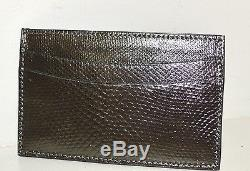 Judith Leiber Crocodile Skin RED Leather Credit Card Business Holder NEW