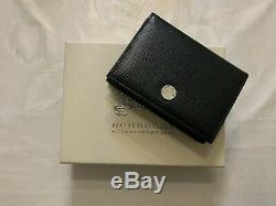 LEATHER GOODS Burberry Card Holder Black Saffiano Business Wallet Check