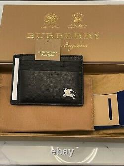 LEATHER GOODS Burberry London Knight Card Holder Black Saffiano Business
