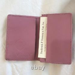 LEVIEV Wallet Credit & Business Card Holder Case in Pink Leather