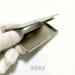 LOUIS VUITTON Champs Elysees business card holder Card Case Silver metal#1691EY