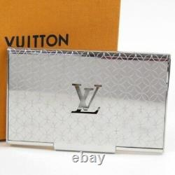 LOUIS VUITTON Champs Elysees business card holder Card Case Silver metal 71390