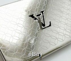 LOUIS VUITTON Porto cult Champs card case business card holder silver colo3551