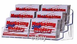 Lot Of 100 Clear Countertop 6 Pocket Business Card Holder