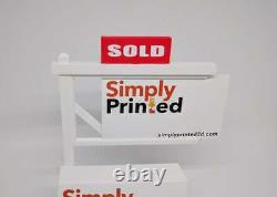 Lot of 10 Real Estate Business Card Holders-Realtor Business Card Displays-Red
