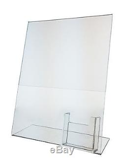 Lot of 50 acrylic 85x11 display sign holder w vertical business lot of 50 acrylic 85x11 display sign holder w vertical business card holder colourmoves