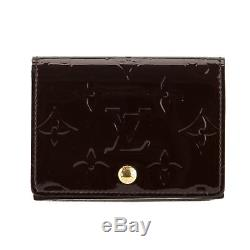 Louis Vuitton Amarante Monogram Vernis Leather Business Card Holder (Pre Owned)