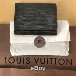 Louis Vuitton Black Epi Leather Card Business Card Holder m28484661127 Pre-owned