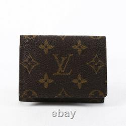 Louis Vuitton Business Card Holder Brown Monogram Coated Canvas Wallet