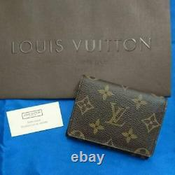 Louis Vuitton Monogram Card Case Business Card Holder m83251981263 Pre-owned