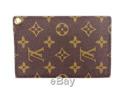 Louis Vuitton business card holder Monogram Authentic Used T3190