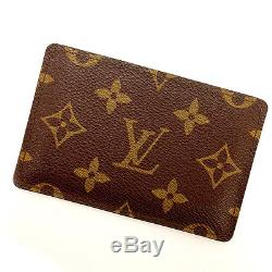Louis Vuitton business card holder monogram / unisex Authentic Used Y744
