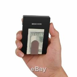 Men's Business Metal Card Holder With Invisible Clip RFID Blocking Luxury Wallet