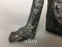 Mid-Century Reclining Woman Sculpture Business Card Holder Style of Henry Moore