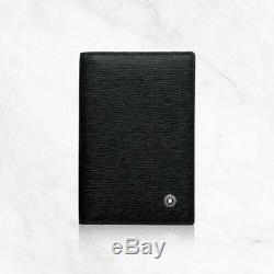Mont Blanc 38034 Card Business Card Wallet Holder Black Natural Calf Leather IA