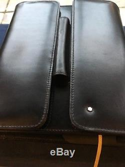 Mont Blanc Leather Organiser A5 Size Writing Pad Pen Business Card Holders
