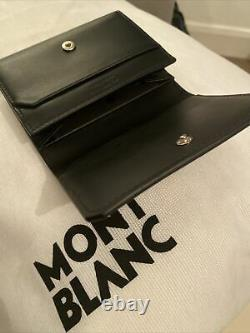 Montblanc Black Meisterstuck Urban Business Card Holder With Flap & Coin Pocket