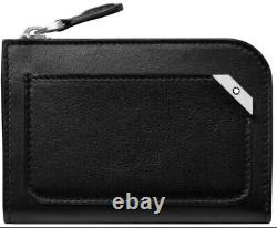 Montblanc Leather Business Card Holder Wallet MST Urban With Zip Black 124101