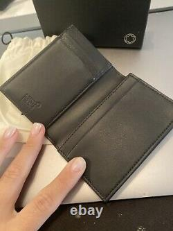 Montblanc Meisterstuck Business Card Holder Wallet Gusset Navy Italy, NWT