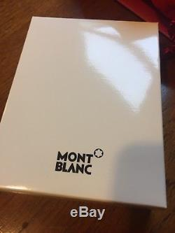 Montblanc Meisterstuck soft grain business card holder trifold black leather