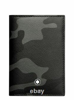 Montblanc Sartorial Business Card Holder Came Grey Leather 118685