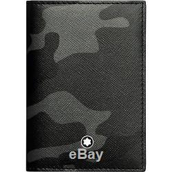 Montblanc Sartorial Business Card Holder Gray Camo leather 118685