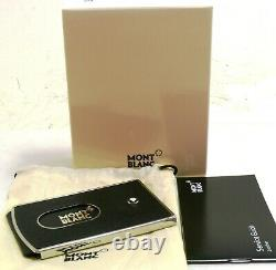 Montblanc Sartorial Business Card Holder Hard Shell Black 125653 NEW #82052-3