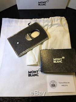 Montblanc Sartorial Steel Leather Business Card Holder 116390