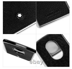 Montblanc Sartorial Steel Leather Business Card Holder 116390 Free Shipping