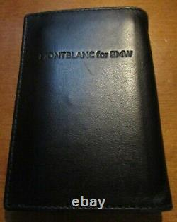 Montblanc for BMW Black Leather Business Card Holder Gorgeous