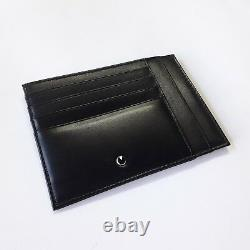Montegrappa Italian Black Leather Credit Card Holder Business ID Case 13 Slots