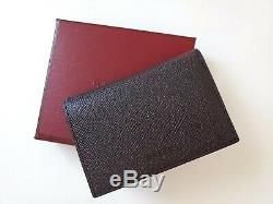 NEW BALLY Logo Leather Business Card pocket ID Bifold Holder Case Wallet Gift