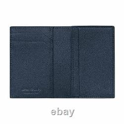 NEW Montblanc 128590 Sartorial Blue Leather Business Card Holder MB128590