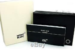 NEW Montblanc Meisterstuck Selection Gray Leather Business Card Holder 109659