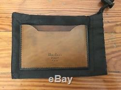 New Berluti Mens Brown Leather Business Card Holder Gents