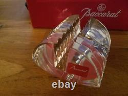 New In Box Baccarat Crystal Lalande Business Card Holder