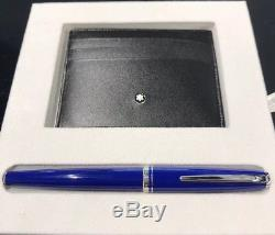 New Mont Blanc Pen and Business Card Holder Gift Set Meisterstuck Cruise