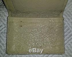 OMEGA Watch OSTRICH LEATHER Business Card Holder Wallet SUPER RARE