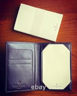Patek Philippe leather pocket memo and business cards holder