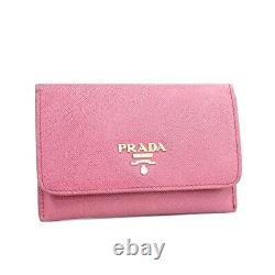 Prada card case business card holder pass case Safi Arno leather pink 1M1