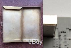 RUSSIA, Vintage Silver 925 BUSINESS CARD CASE HOLDER, Sterling, North Niello
