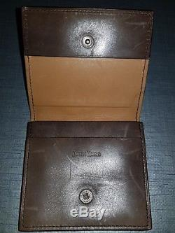 Rare John Lobb Leather Credit Business Card Holder Wallet