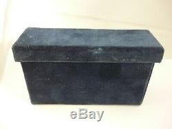 Rare Vintage Solid Silver Business card Holder/Case SS Eugenio C Cruise Ship