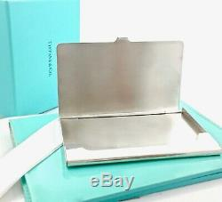 Return To Tiffany & Co Sterling Silver 1837 Business Card Case Holder w Box 1912