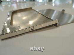 Tiffany & Co 925 Engraving Business Card Case Holder Sterling Silver Good Cond
