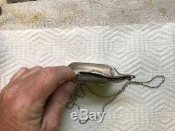 Tiffany & Co. Elsa Peretti Business Card Holder Pendant With Sterling Bead Necklac
