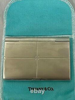 Tiffany & Co Silver Streamerica Business Card Case Holder Box Included