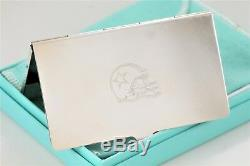 Tiffany & Co. Silver plate Dallas Cowboys Business Card Holder with Packaging