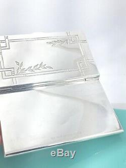 Tiffany & Co Sterling Silver Nature Bamboo Leaves Business Card Case Holder 19E