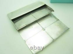 Tiffany & Co. Sterling Silver Streamerica Business Card Case Holder Box A